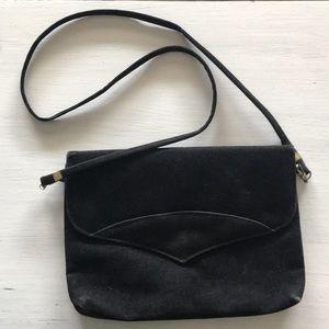 Vintage velvet black purse